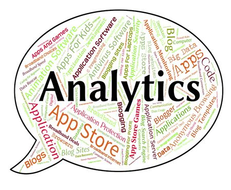 analyzing: Analytics Word Showing Reporting Analyzing And Www