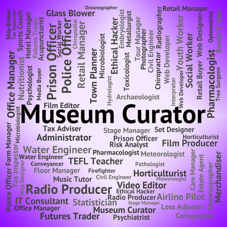 custodian: Museum Curator Meaning Job Archive And Guardian Stock Photo