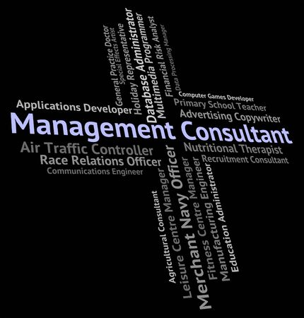 advisers: Management Consultant Representing Jobs Text And Advisers