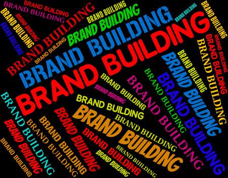 brand identity: Brand Building Indicating Company Identity And Logos Stock Photo