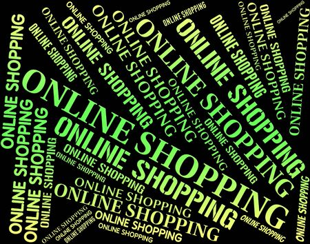 commercial activity: Online Shopping Representing World Wide Web And Commercial Activity