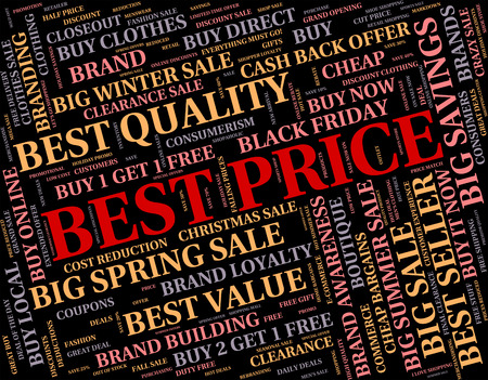 optimal: Best Price Meaning Number One And Charge Stock Photo