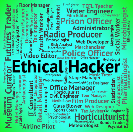 ethical: Ethical Hacker Indicating Contract Out And Security
