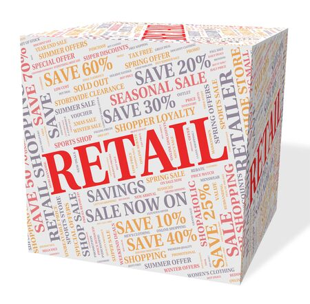 vend: Retail Word Representing Commerce Selling And Marketing Stock Photo
