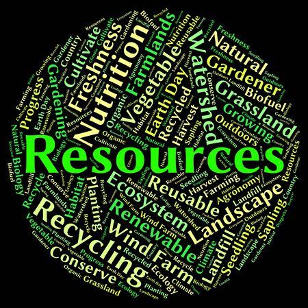 natural resources: Recursos Naturales de indicación de materias primas y de petróleo Foto de archivo