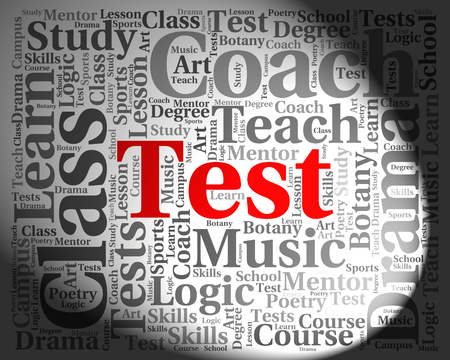 assess: Test Word Indicating Tested Examinations And Assess