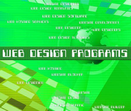 software development: Web Design Programs Representing Software Development And Designing