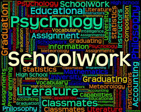schoolwork: Schoolwork Word Indicating Homework Projects And Text