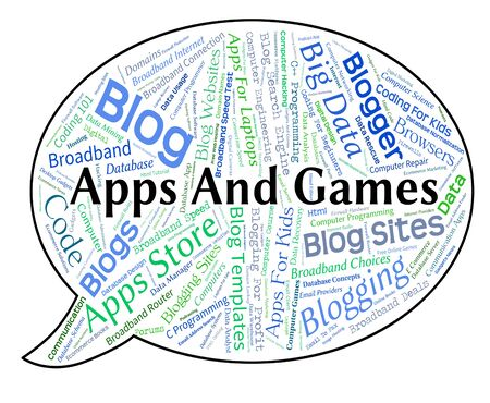 play time: Apps And Games Representing Play Time And Entertaining