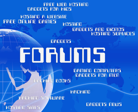 forums: Forums Word Indicating Social Media And Website