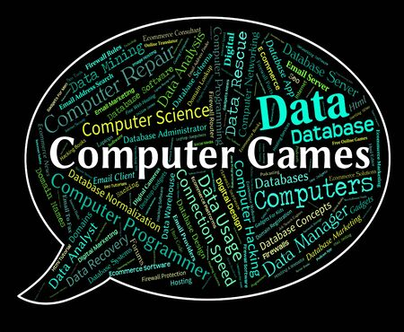 computer games: Computer Games Showing Entertainment Play And Playing