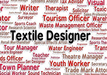 textile designer: Textile Designer Indicating Designed Employee And Jobs