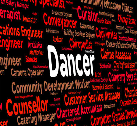 occupations: Dancer Job Showing Jobs Occupations And Occupation Stock Photo