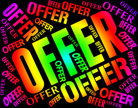 closeout: Offer Word Representing Discounts Words And Closeout