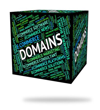 domains: Domains Word Showing Www Computer And Dominion Stock Photo