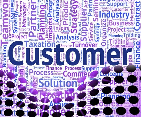 Customer Word Indicating Patronage Wordcloud And Client