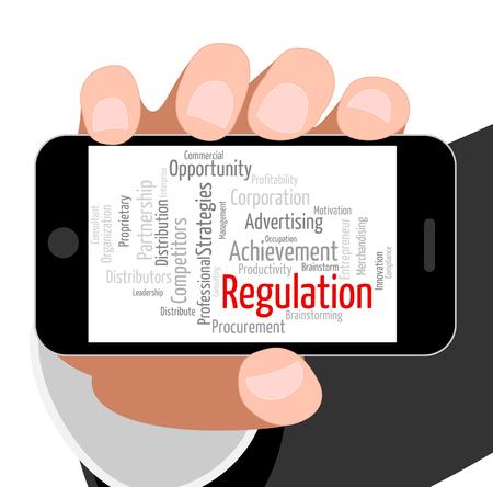 edicto: Reglamento Palabra Mostrando Mandato regular y la Directiva
