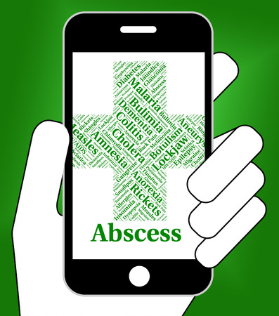 poor health: Abscess Illness Meaning Poor Health And Affliction