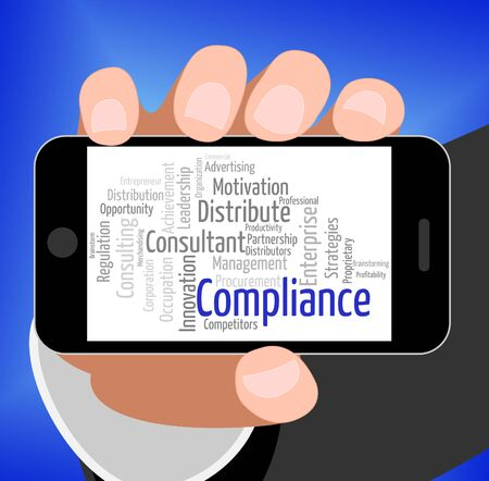 complied: Compliance Word Indicating Agree To And Guidelines
