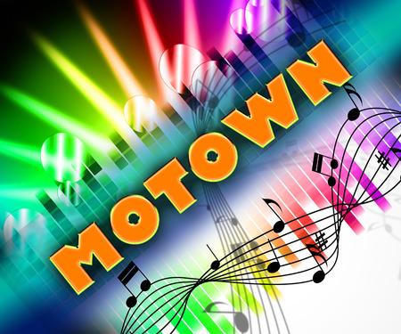 Musique Motown Affichage des tracés et des mélodies sonores Banque d'images