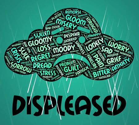irked: Displeased Word Showing Put Out And Wordcloud