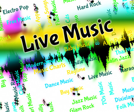 tune: Live Music Showing Sound Tracks And Tune