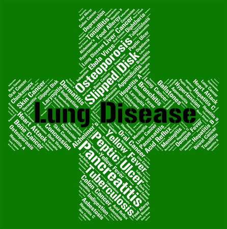 lung disease: Lung Disease Representing Poor Health And Disorder