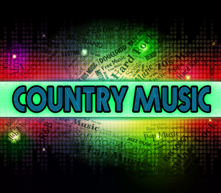country music: Country Music Zeige Tonspuren And Songs Lizenzfreie Bilder
