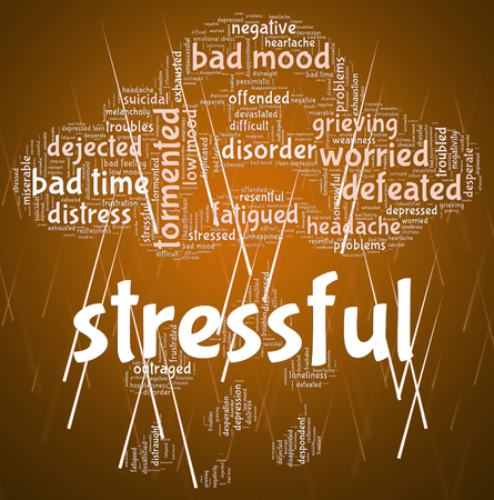 stressful: Stressful Word Representing Pressure Wordclouds And Text