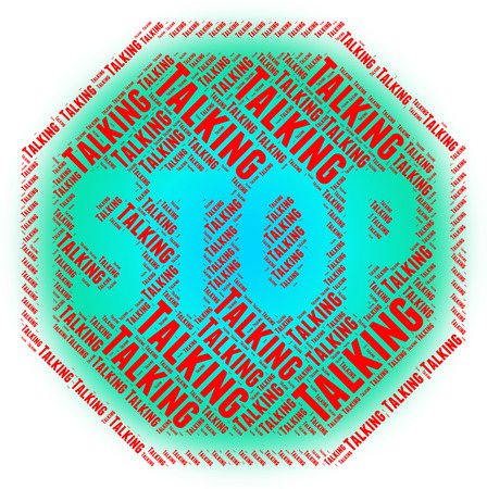 Chatter: Stop Talking Representing Warning Sign And Chatter