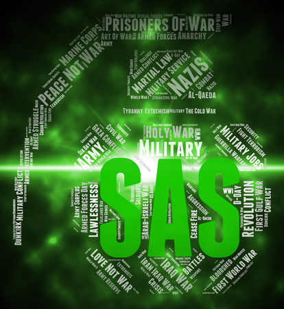 counter terrorism: Sas Word Representing Special Air Service And Special Forces