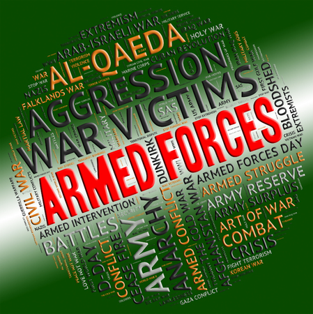 armed services: Armed Forces Representing Fighting Machine And Conflicts