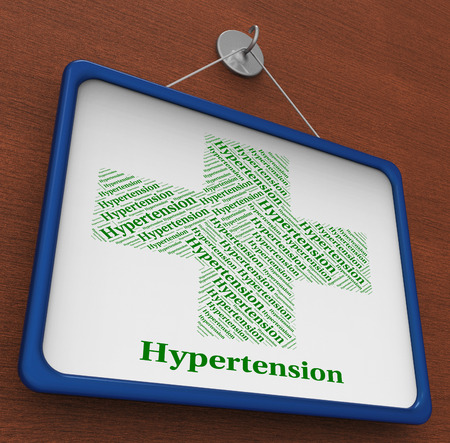 diastolic: Hypertension Word Showing High Blood Pressure And Ill Health