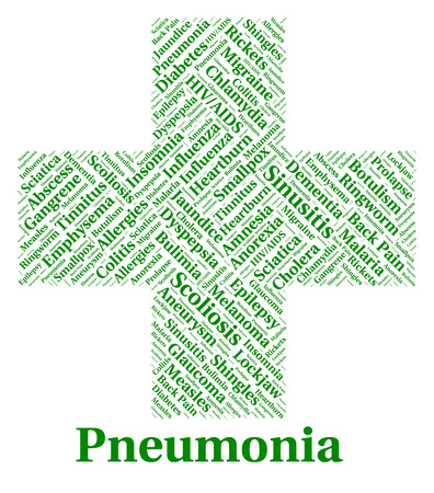 afflictions: Pneumonia Illness Indicating Poor Health And Sick