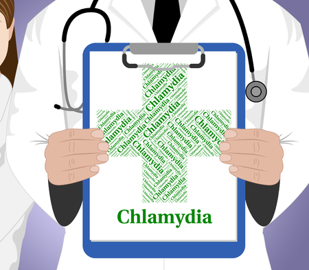 curse: Chlamydia Word Showing Sexually Transmitted Disease And Venuss Curse Stock Photo
