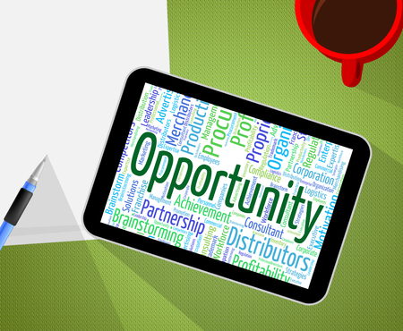 wordcloud: Opportunity Word Representing Opening Possibilities And Wordcloud