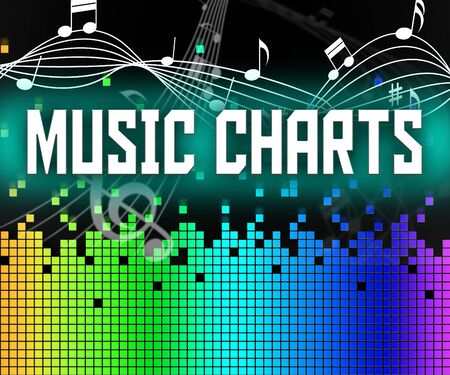 ten best: Music Charts Meaning Hit Parade And Acoustic