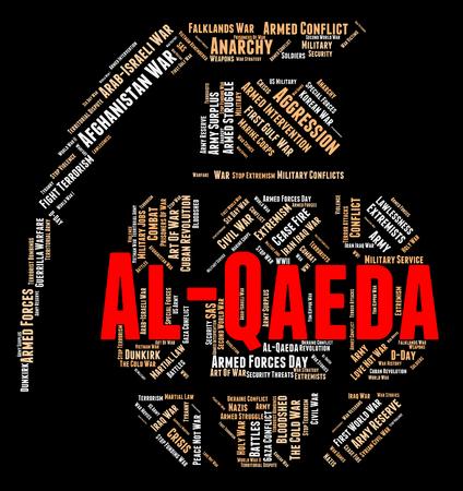subversive: Al-Qaeda Word Representing Anarchy Revolution And Wordcloud Stock Photo