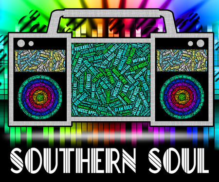 rhythm: Southern Soul Showing American Gospel Music And Rhythm And Blues Stock Photo