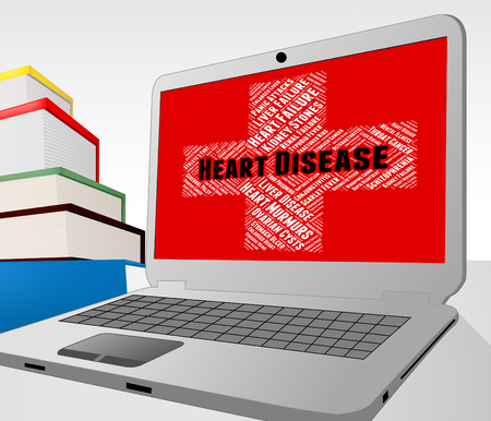 congenial: Heart Disease Showing Chf Attack And Diseases Stock Photo