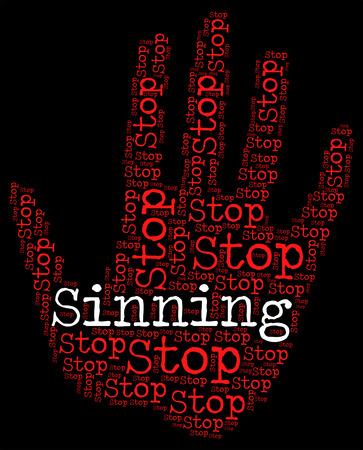 trasgressione: Smettere di peccare Significato Warning Sign e prevenire