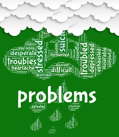 drawback: Problems Word Representing Difficult Situation And Words