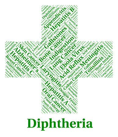 poor health: Diphtheria Illness Representing Poor Health And Complaint