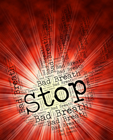 halitosis: Stop Bad Breath Representing Warning Sign And Periodontitis