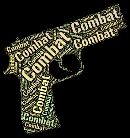 impede: Combat Word Indicating Block Wordcloud And Inhibit Stock Photo