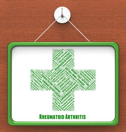 indisposition: Rheumatoid Arthritis Representing Ill Health And Indisposition