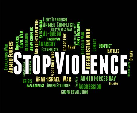 brute: Stop Violence Showing Brute Force And Stopped