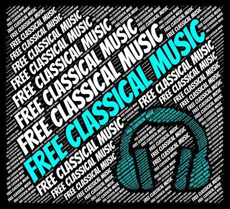 musica clasica: M�sica Cl�sica gratuito Representando Banda Sonora Y Gratis Foto de archivo