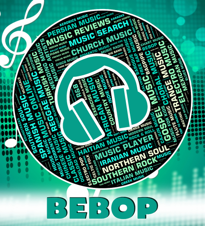melodies: Bebop Music Showing Sound Tracks And Song Stock Photo