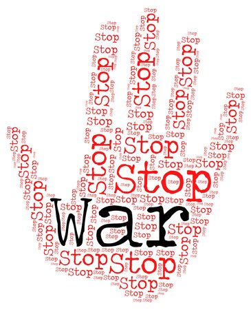 clashes: Stop War Meaning Warning Sign And Fighting